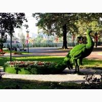 Фигур из искусственного газона, топиарии, арт-объекты для парков, садов