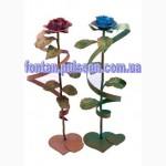 Кованые розы необычный подарок для девушки на новый год 8 марта Коана роза троянда