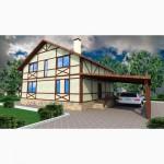 Канадский дом-каркасный дом из сип панелей Харьков от застройщика