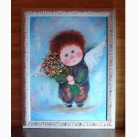 Картина маслом на подарок Мой зимний ангел
