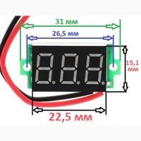 Вольтметр постоянного тока, красный, 4 - 30V, для авто-сельхозтехники