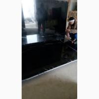 Черный испанский мрамор в слябах с белыми прожилками, толщина 30 мм