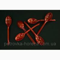 Ложка пластиковая столовая ХТМК16см 50шт Красная