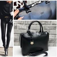 Женская кожаная сумка Fendi копия среднего размера, жіноча шкіряна сумочка