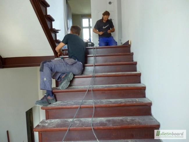 Фото 3. Cтоляр паркетчик - реставратор сходів, паркетa. Робота в Польщі