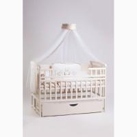 Новый комплект для сна Элит: кроватка маятник, ящик, матрас, постель