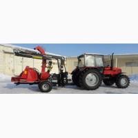 Трактор Беларус-1221.2 з тріскодробаркою Farmi CH260HFC та гідроманіпулятором Palms 530