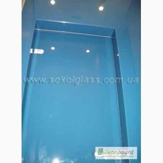 Декоративное крашенное стекло в интерьере