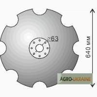 Диск бороны БДФ ромашка (вырезной - сферический), дисковая борона, диск, диск на борону