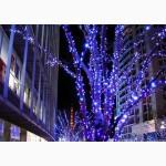 Светодиодная гирлянда нить, новогодние гирлянды, установка праздничной иллюминации