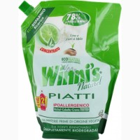 Эко-средство для мытья посуды, лайм (эко-упаковка) Winni#039;s (1 л.)