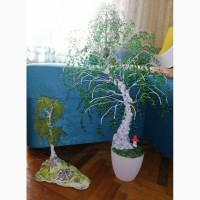 Дерево. Изделия из бисера. Бисерная берёза, Киев