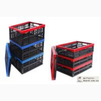 Пластмассовые складные ящики для пищевых продуктов разных размеров