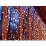 Гирлянда светодиодная уличная дождь 2 х3 метра, световой занавес, штора