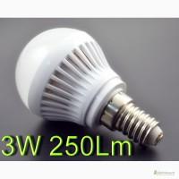 Светодиодная лампа E14 220 вольт 3W 250Lm