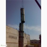 Демонтаж аварийной дымовой трубы 46 метров Промышленные Дымовые Трубы