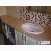 Столешница мраморная, столик в ванную из мрамора - 3 500 грн