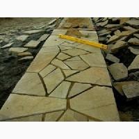 Резанная мозаика из песчаника природного