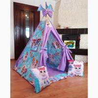 Палатка вигвам лол, lol детский фиолетовый для девочки