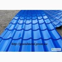 Металлочерепица Монтеррей синяя, синяя крыша, металлочерепица синего цвета
