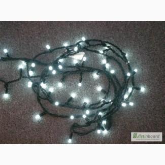 Гирлянда нить светодиодная, световая иллюминация, новогоднее украшение