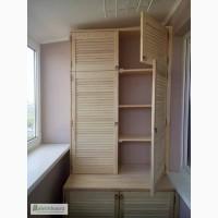 Встроенный хоз шкаф из дверей жалюзи