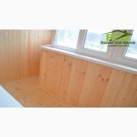Обшивка деревянной вагонкой балконов, стен, потолка, откосов