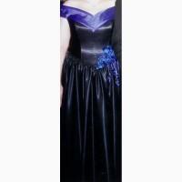 Продам вечернее атласное черное платье