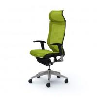Кресло офисное OKAMURA CP Lime green, полированный каркас