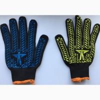 Прочные перчатки с ПВХ точкой