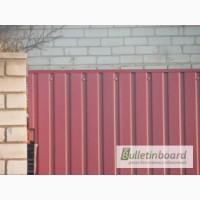 Проф забор металический, забор из профнастила