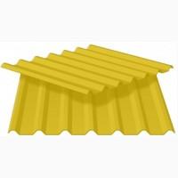 Профнастил для стен, ПС-8 в жёлтом цвете!Профнастил для торгового центра и магазина