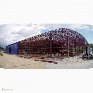 Изготовление металлокаркасов, быстровозводимых зданий, складов, павильонов, ангаров
