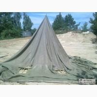 Палатка лагерная военная, навесы, тенты брезентовые