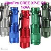 Светодиодный фонарик 3 вата UltraFire CREE XP-E Q5 3W 1xAA