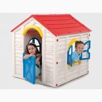 Дитячі будиночки, гірки, столики