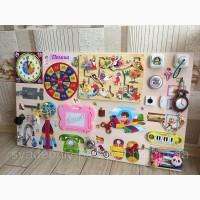Игрушка развивающая ребенка Бизиборд 60*100 см подарок для ребенка