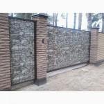 Забор из камня, профнастил под камень цена