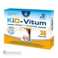 KID-VITUM, вітамін К і D3 для дітей від 8 дня народження, 36 КАПСУЛ