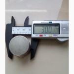 Супермагнит магнит неодимовый 30 х 3 мм ранг N 38 NdFeB