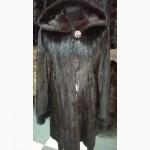 Элегантная норковая шуба с капюшоном по самой низкой цене