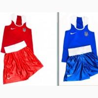 ДВЕ боксерский формы синяя + красная (майка, трусы) NIKE Все размеры
