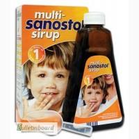 Вітаміни для дітей від 1року Multi Sanostol Sirup.(300г та 600г)