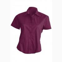 Бордовая рубашка из хлопка