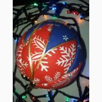 Новогодний шар Кимекоми. Елочная игрушка ручной работы. Очень красивая. 10 см