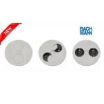 Врезная розетка Bachmann TWIST 2x220. Нержавеющая сталь