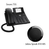 Snom D735 + Jabra Speak 410 MS, комплект: sip телефон + портативный спикерфон
