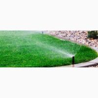 Укладка рулонного газона и установка систем полива, ландшафный дизайн под ключ