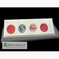 Планшет для определения групп крови на 4 лунки