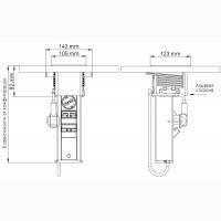 Блок розеток EVOline Port Push 2×220В. Крышка из матовой нержавеющей стали